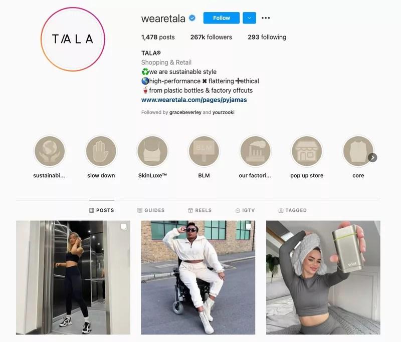 tala social media strategy