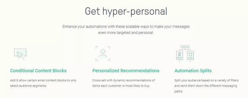 Omnisend enables you to be hyper-personal