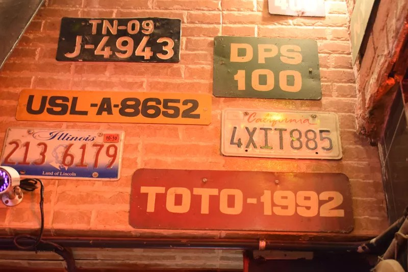 Number plates at Toto's Garage