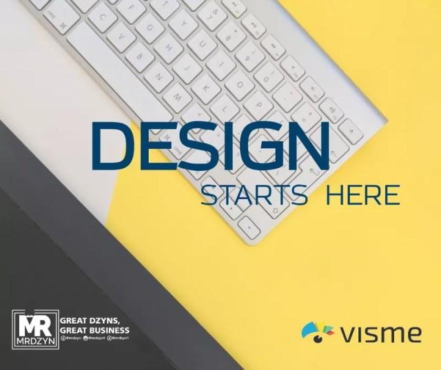 design starts here-visme