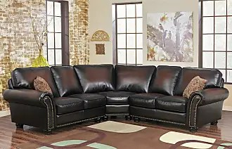 abbyson living belmont leather sofa sofas and loveseats toronto furniture by now shop up to 33 stylight melrose bonded 3 piece sectional