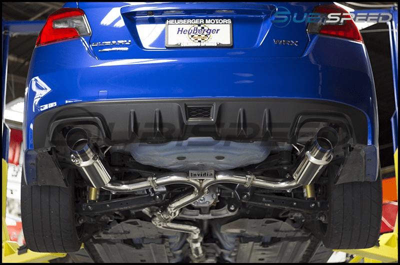 invidia n1 dual cat back exhaust 2015 2020 subaru wrx sti