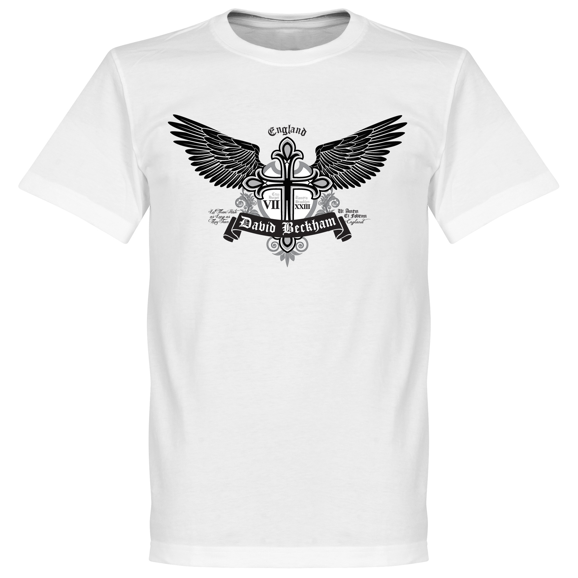 Beckham Tattoo Tee - White - XS