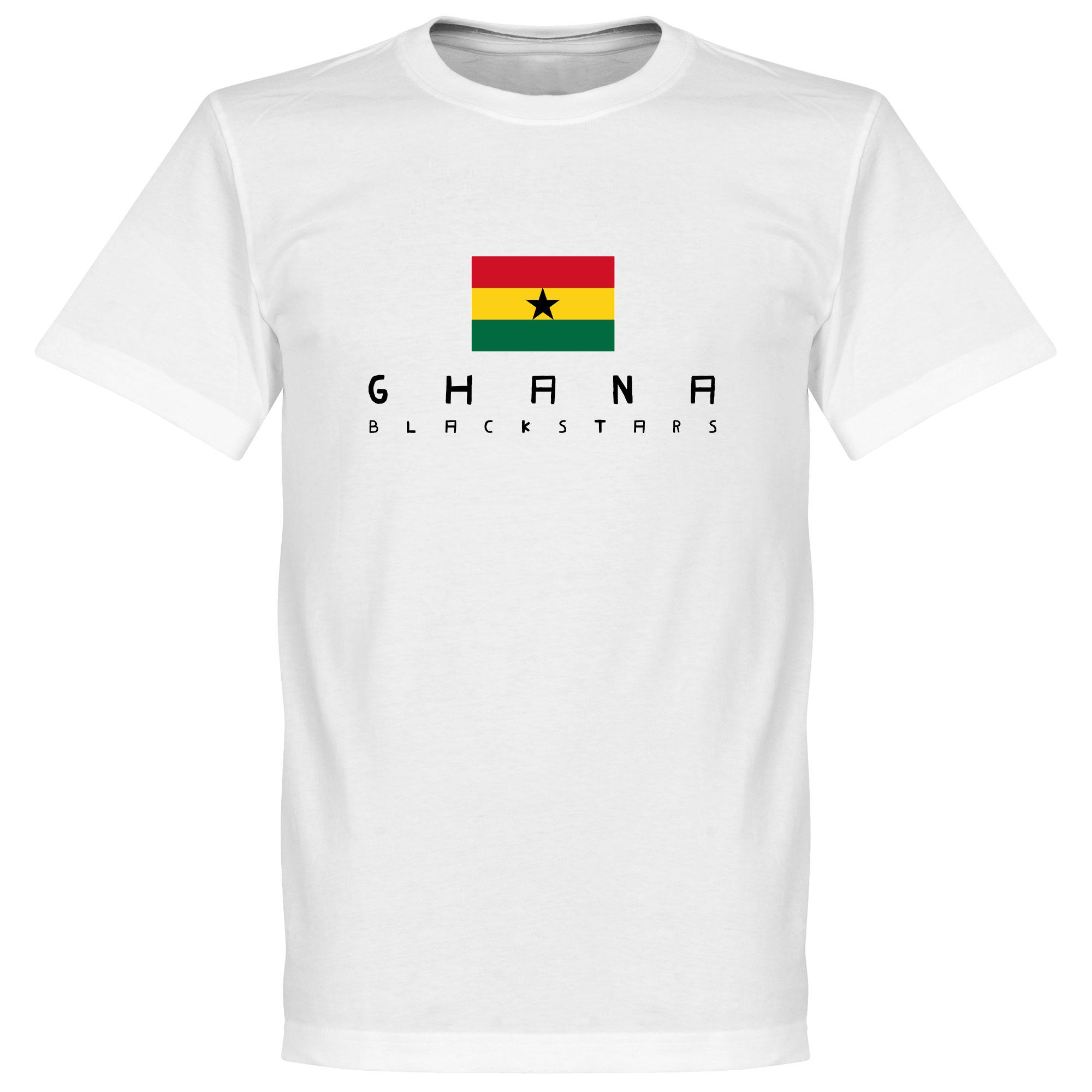 Ghana Black Stars Flag Tee - White - S
