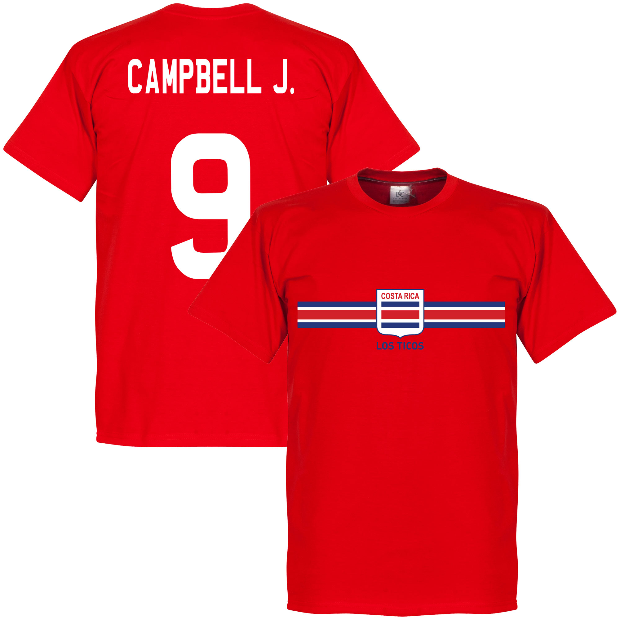 Costa Rica Campbell J. Tee - Red - M