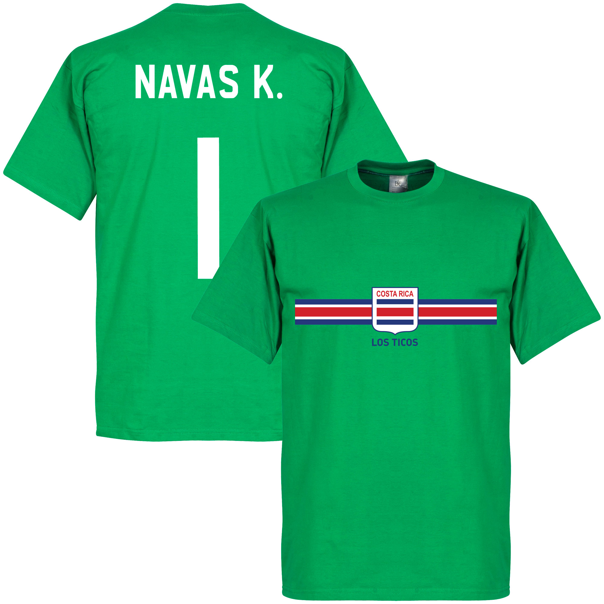 Costa Rica Keylor Navas Goalkeeper Tee - Green - XL