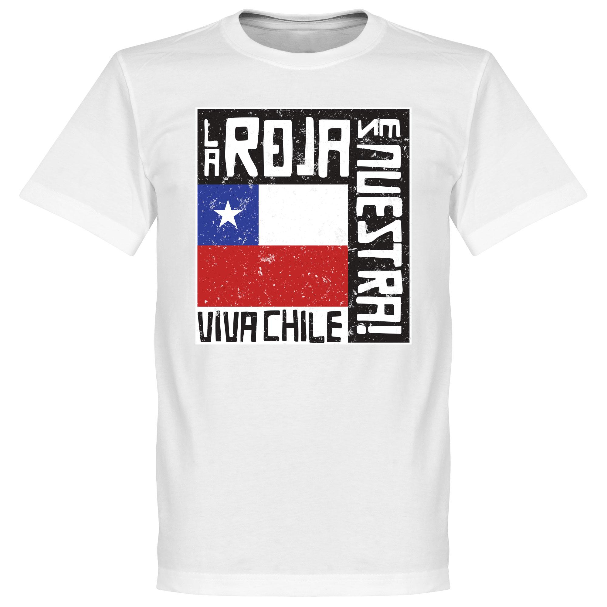 Chile Le Roja Es Nuestra Tee - White - XXXL