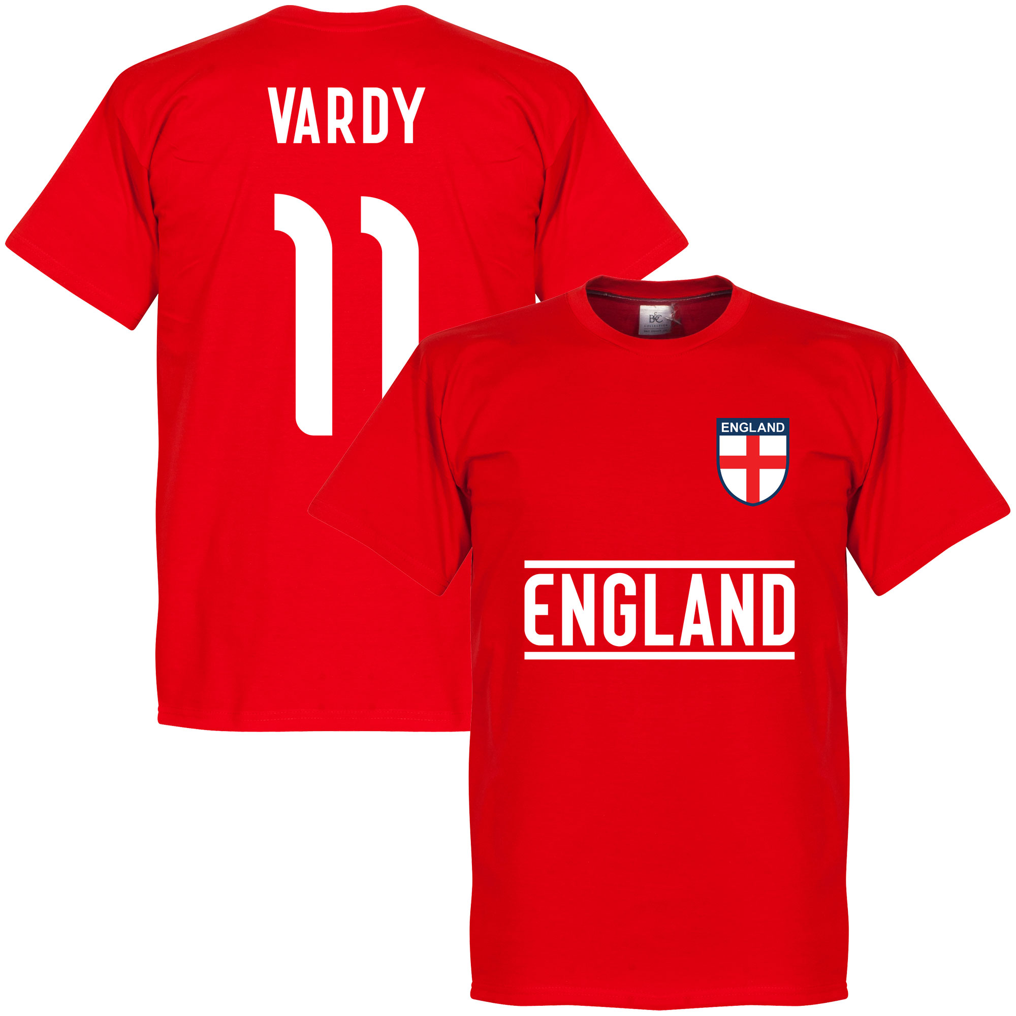 England Vardy Team Tee - Red - XL