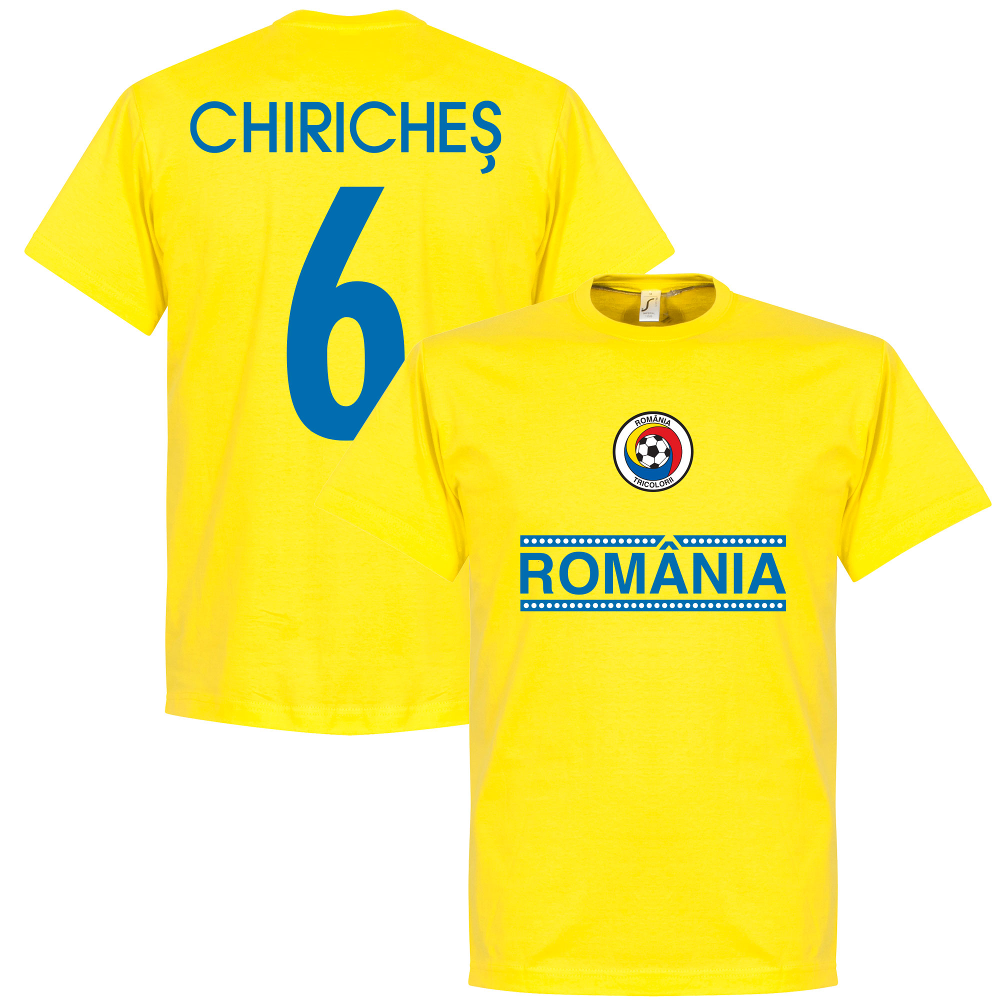 Romania Chiriches 6 Team Tee - Yellow - XXXL