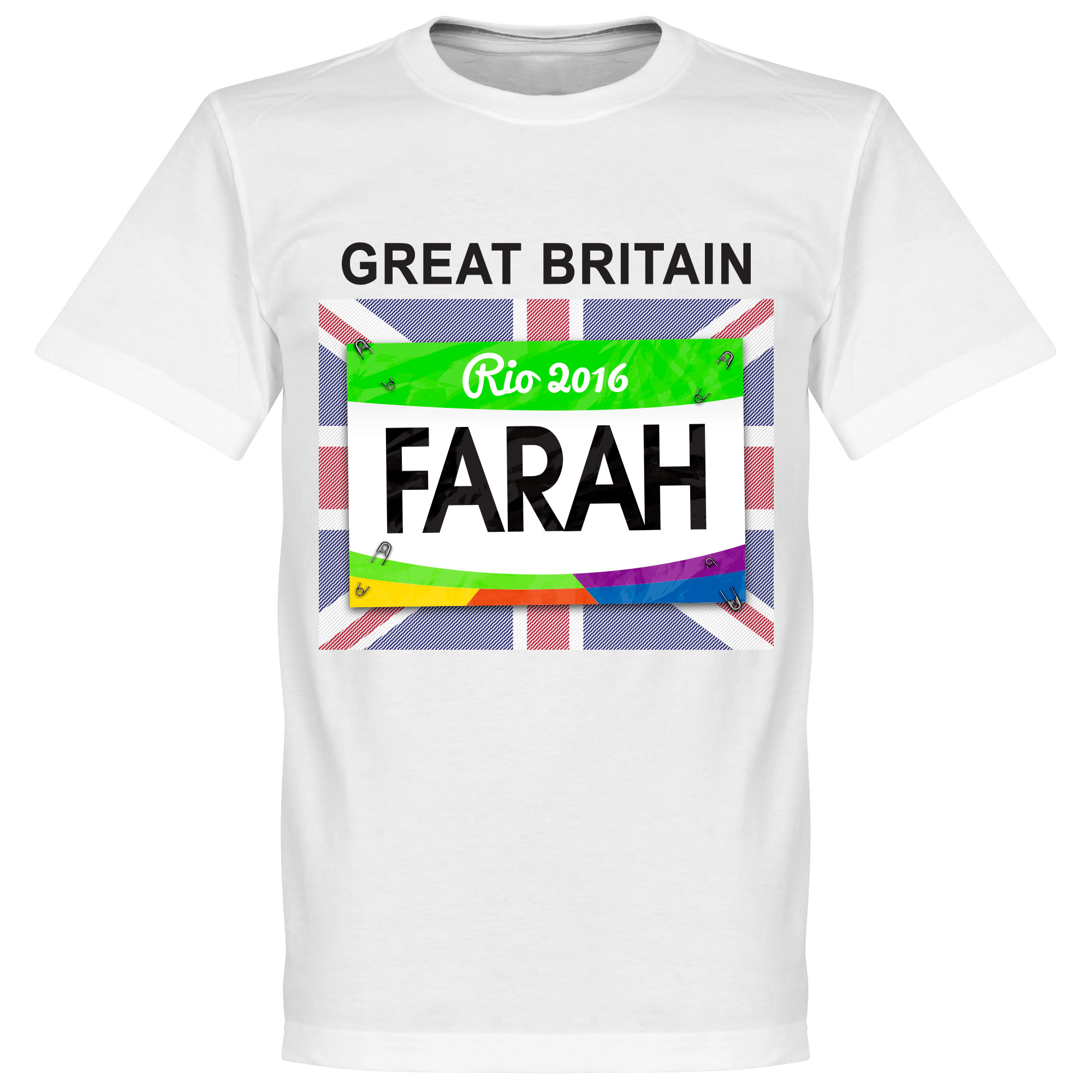 Farah Team GB Tee - White - XL
