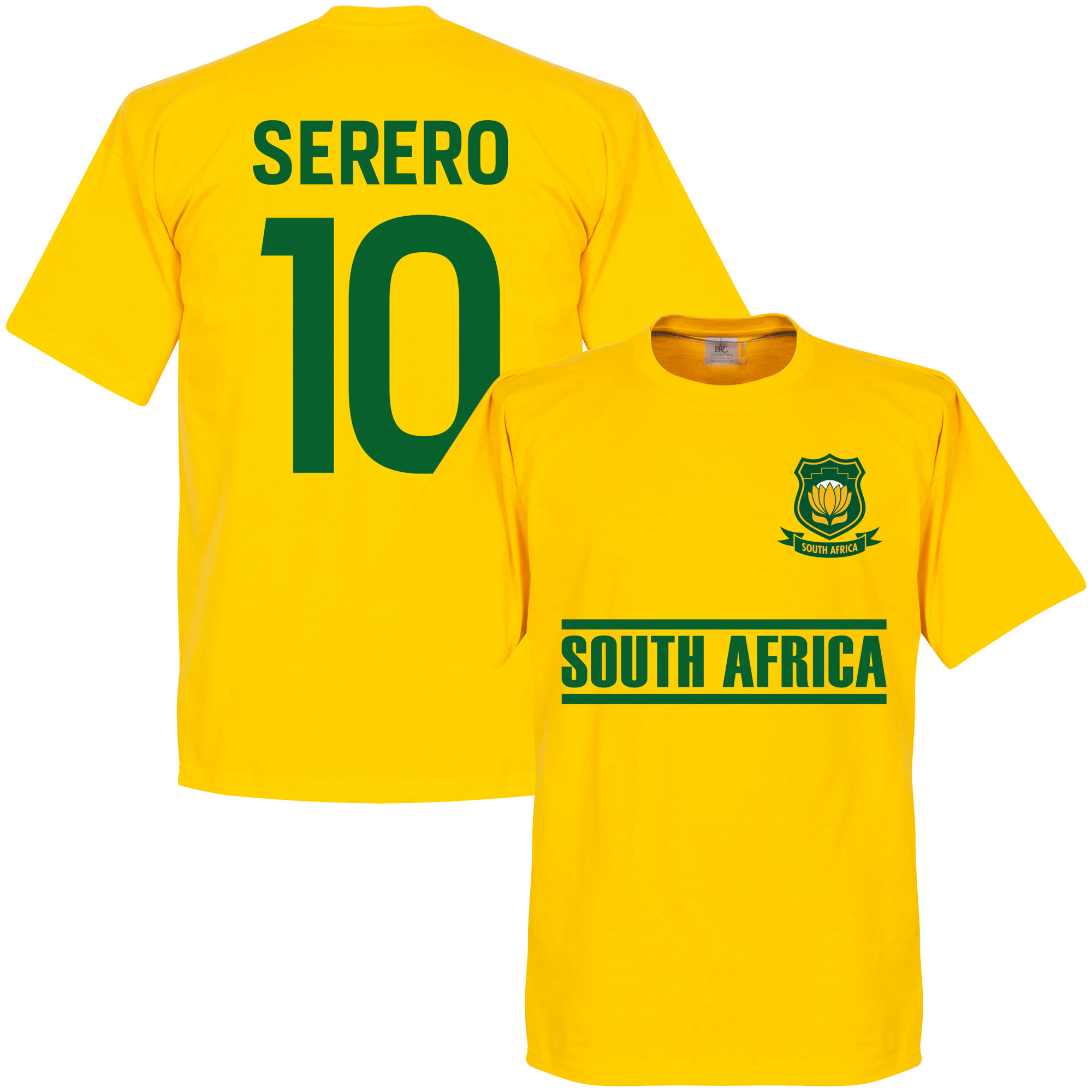 South Africa Serero Tem Tee - Yellow - M