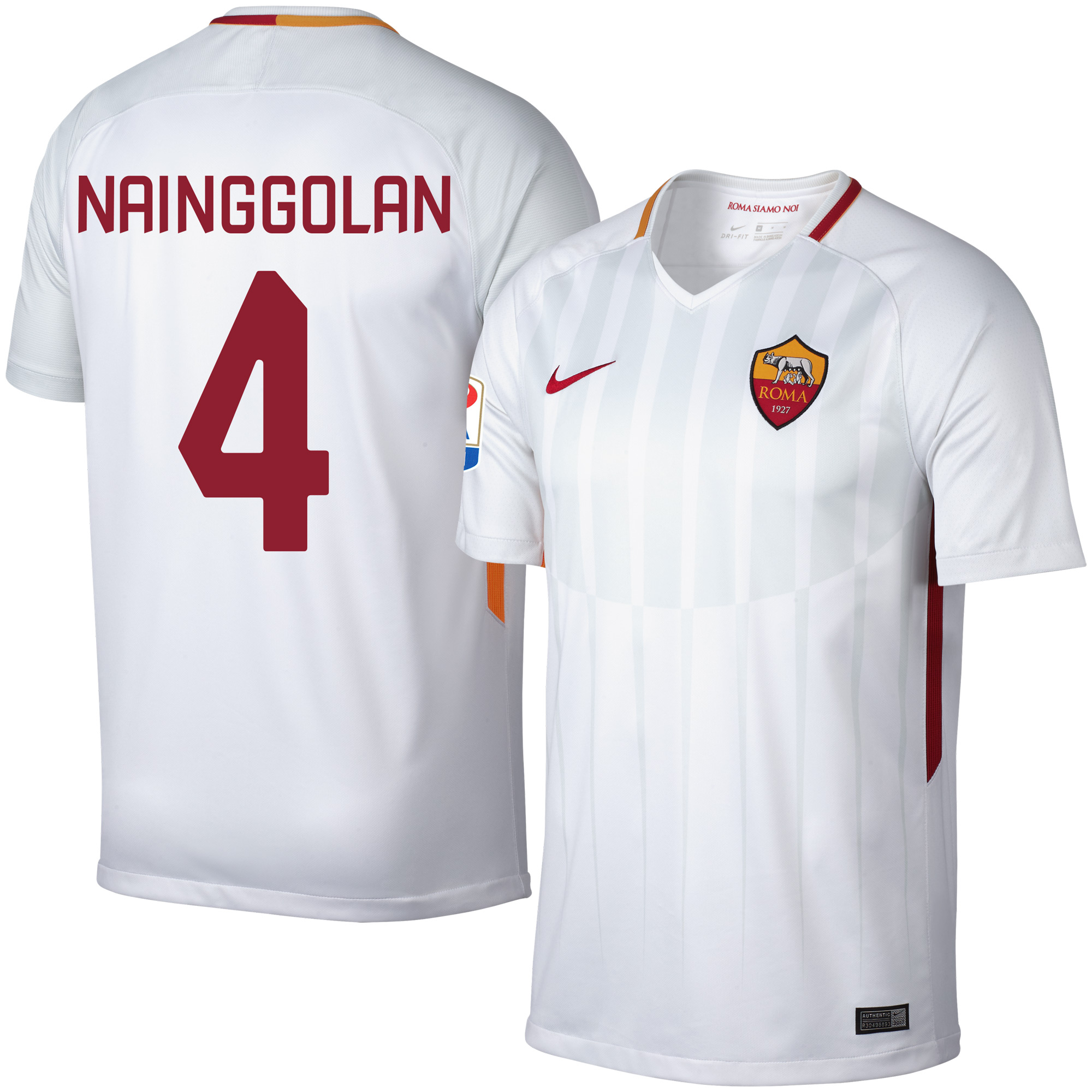 AS Roma Away Nainggolan Jersey 2017 / 2018 (Fan Style Printing) - L