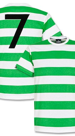 Copa Celtic Captain Tee - White/Green - XL