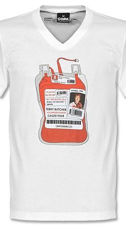 COPA Butcher Blood Bag V-Neck Tee - White - M