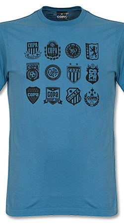 Copa Crests Tee - Faded Blue - XXL