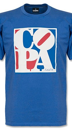 COPA Typo Tee - Royal - M