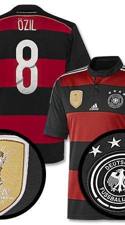 Germany Away Boys Özil 4 Star Jersey 2014 / 2015 - 128
