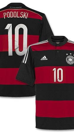 Germany Away Podolski Jersey 2014 / 2015 - 46