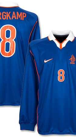 98-99 Holland Away L/S Jersey + Bergkamp 8 (Replica Name) - XL