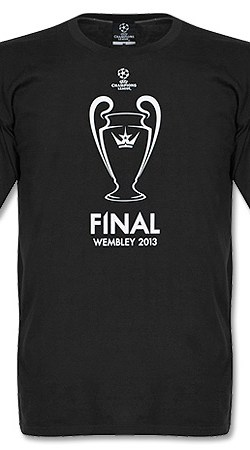 12-13 Champions League Final Printed Tee - Black - M