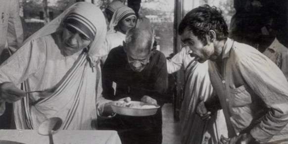 Image result for Mother of Teresa taking care of sick poors