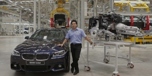 sachin tendulkar at bmw unit in india