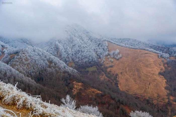 En images : le Pays basque recouvert de givre