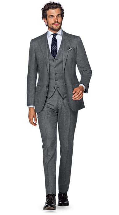 conor mcgregor three 3 piece suit supply grey