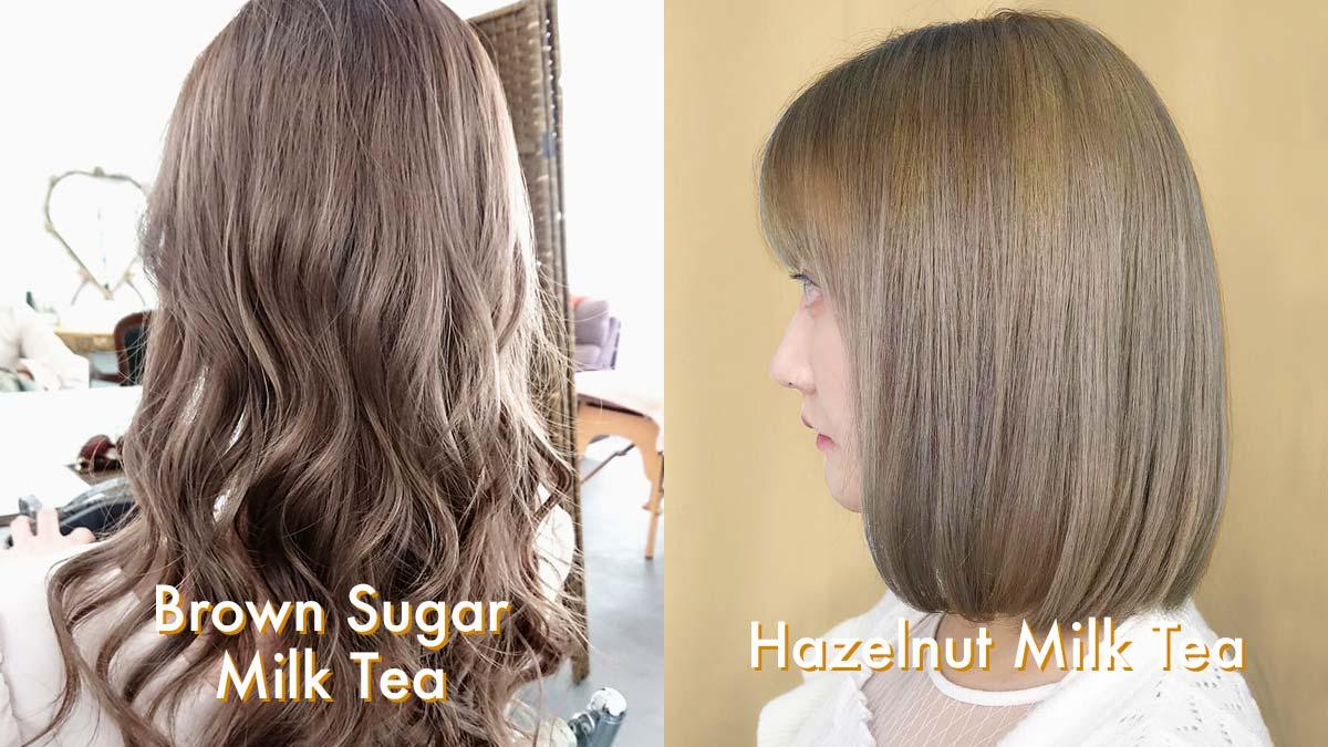 15 milk tea hair