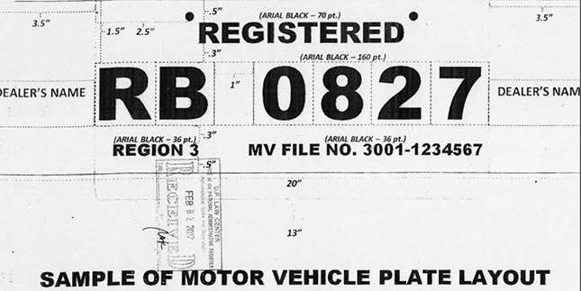 The new LTO-approved temporary license plate designs
