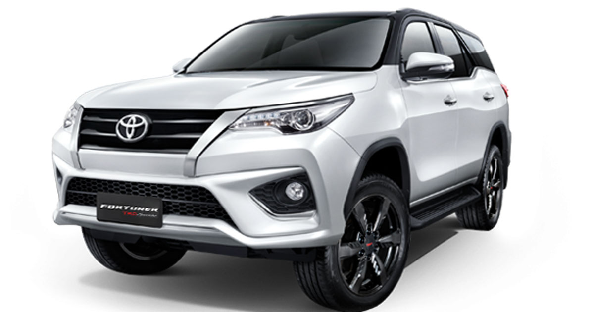 Check out the Toyota Fortuner TRD Sportivo version