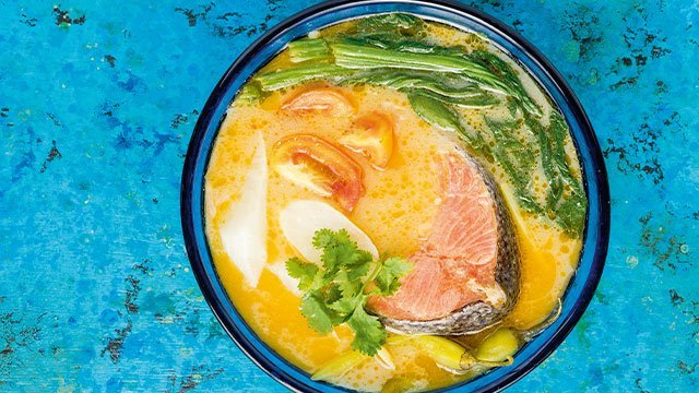 This sinigang recipe   is made with salmon.