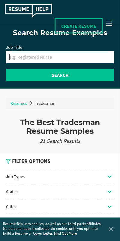 To help you get started, we have compiled three most popular resume formats in downloadable word template. Tradesman Resume 20 Guides Examples