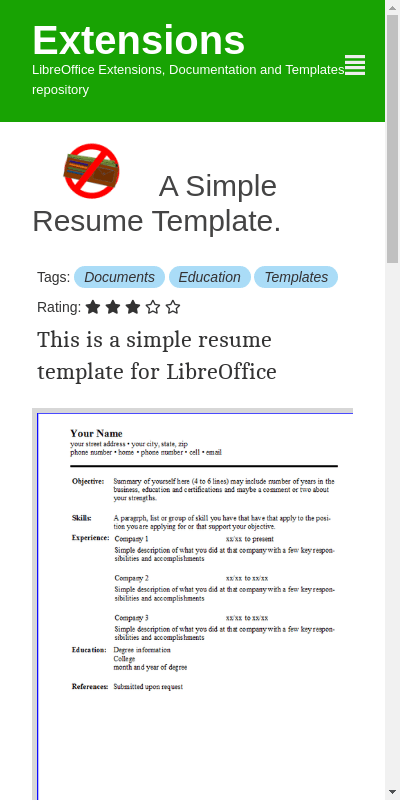 If you wish to show all your details in one page you can use this. Libreoffice Writer Resume Templates 20 Guides Examples