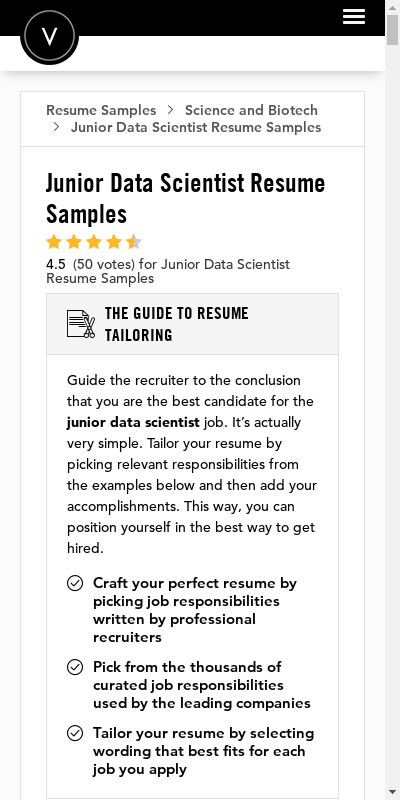 In this article, we'll provide you with two data science resume samples and. Data Scientist Resume Pdf 20 Guides Examples