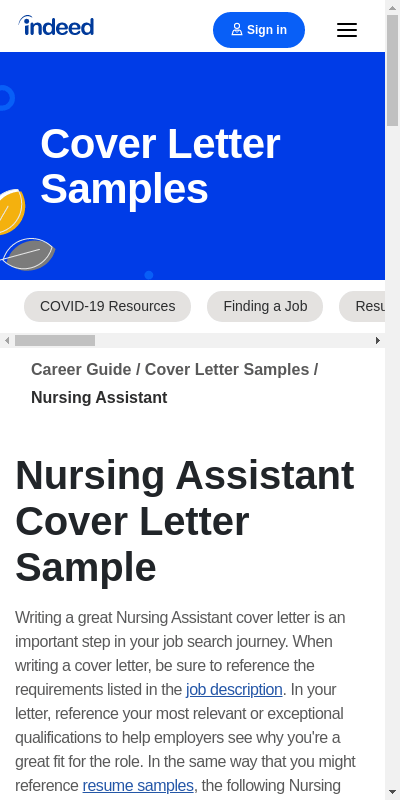 Cover Letters For Cna Positions 20 Guides Examples