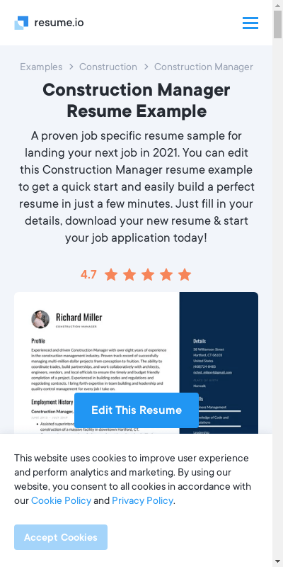 How to build a project manager resume. Construction Management Skills Resume 20 Guides Examples