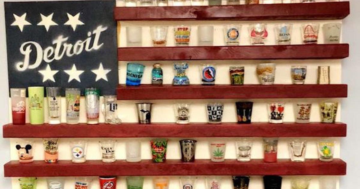 Shot Glass Display Shelf