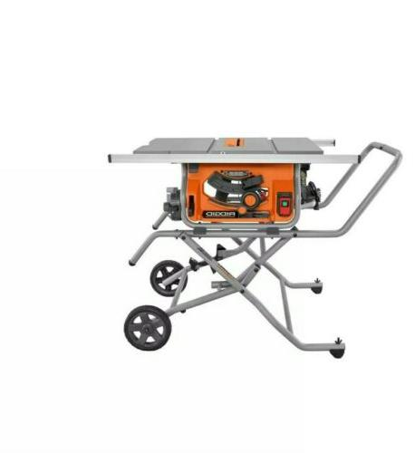 Portable Table Saw with Stand RIDGID 10 in.