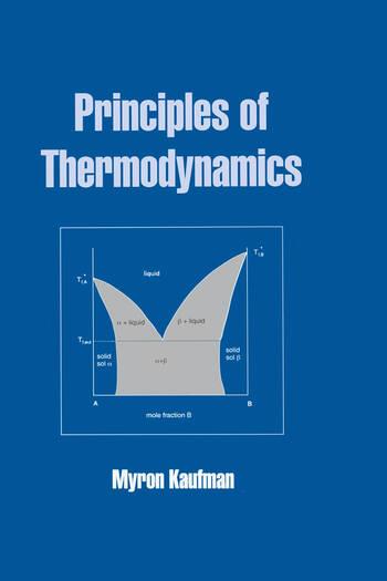 Principles Of Thermodynamics CRC Press Book
