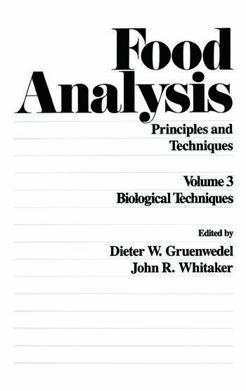 Food Analysis: Principles and Techniques (In 4 Volumes