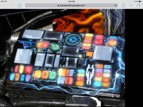 small resolution of  when i stumbled across this attached pic of a custom painted fuse box lid i am curious as to who owns this car does anyone recognize it
