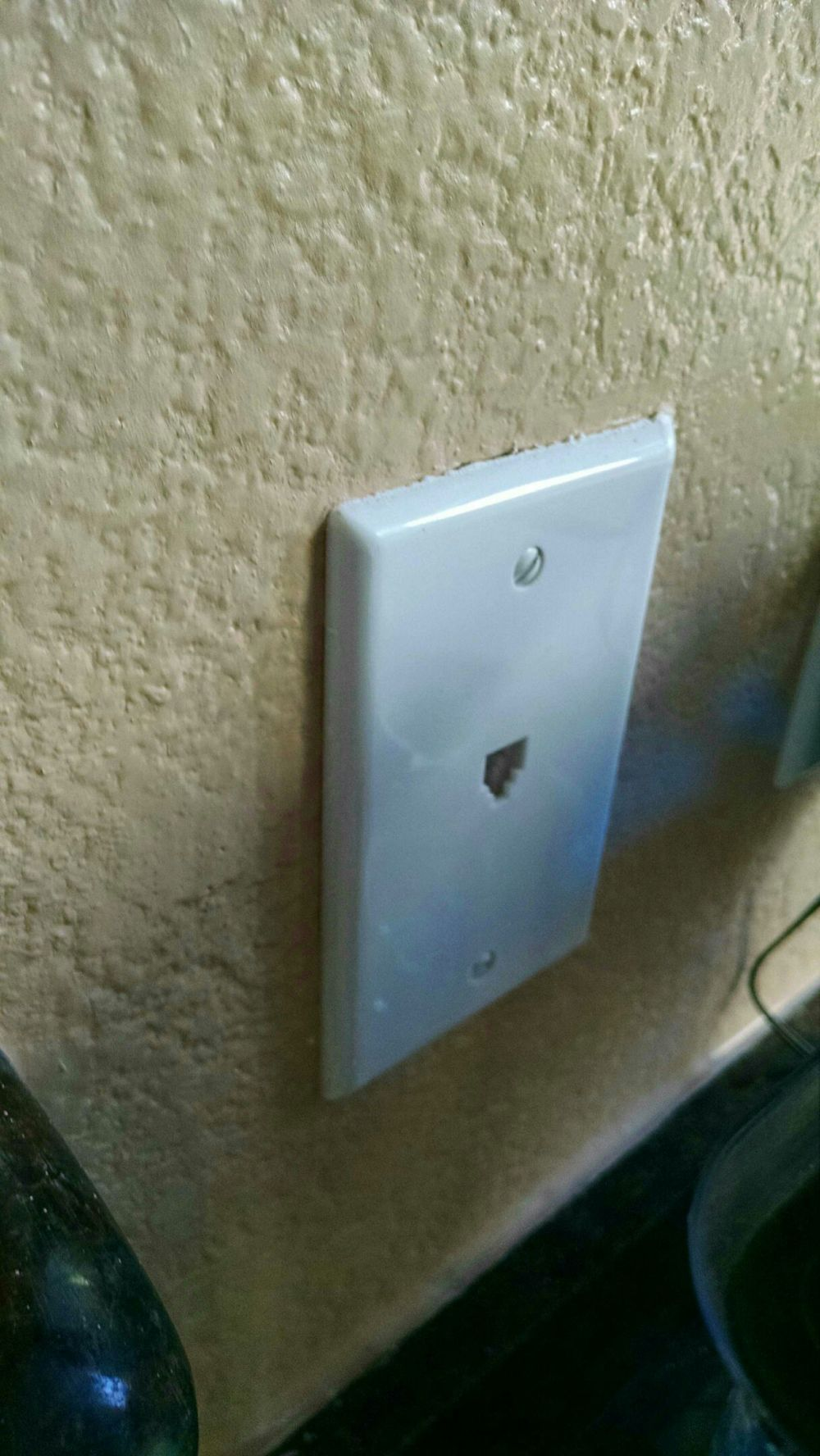 medium resolution of  the wall next to a regular power outlet and convert the phone jack to charge usb my phone jack doesn t get used and i want to make the outlet useful