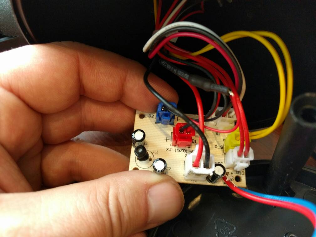 christmas lights wiring diagram forums jvc kd r520 upping the power on a star shower laser light projector here s few pics you can see inline resistor in first two red wire with black shrink tubing