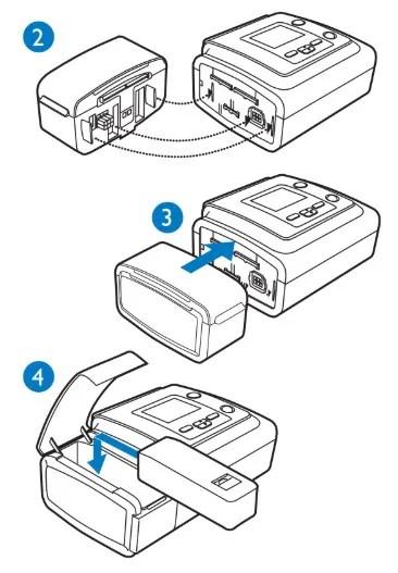 Módulo Para Bateria BiPAP A40 Silver Series Philips