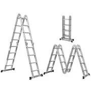 Escada Multifuncional 4x4 Dobrável Alumínio 16 Degraus Mor