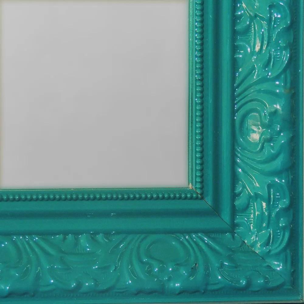 Espelho Grande com Moldura Verde  N Store  Mveis e Decorao