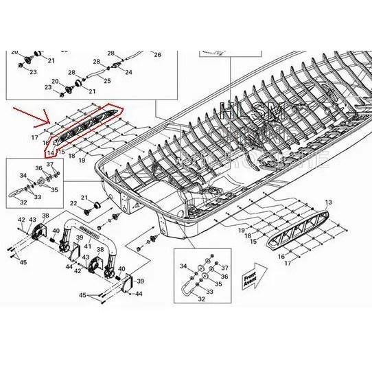 Estabilizador Jet Ski Sea Doo 4 tempos lado esquerdo (LH