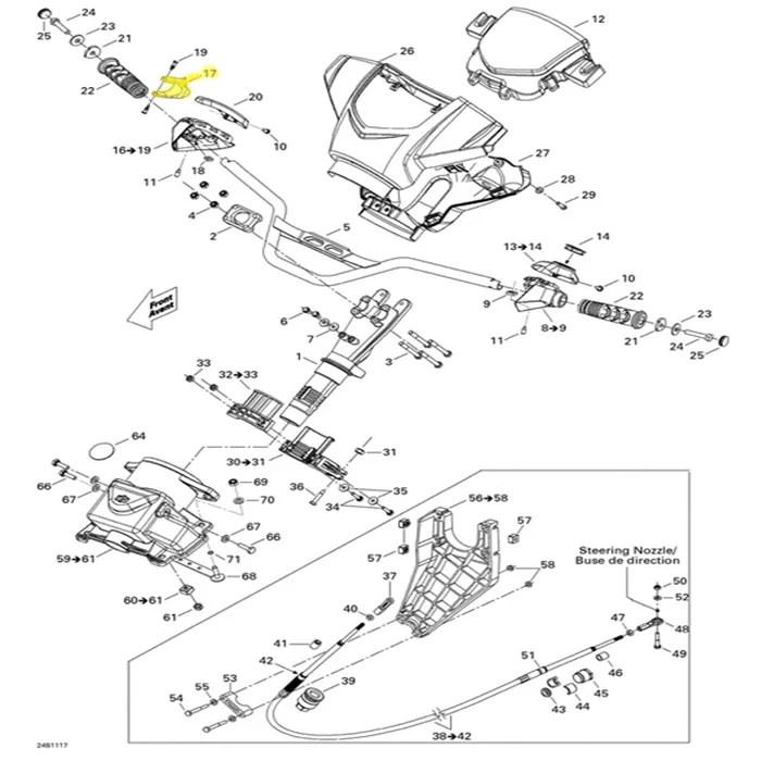 Gatilho Acelerador para Jet Ski Sea Doo Original 277001485