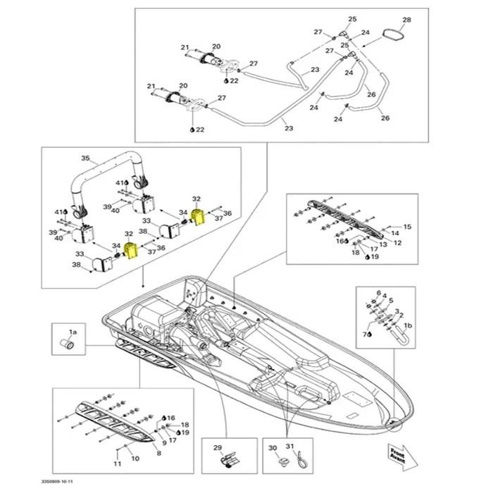 Suporte Escada para Jet Ski Sea Doo 4 tempos (A) LH Lado